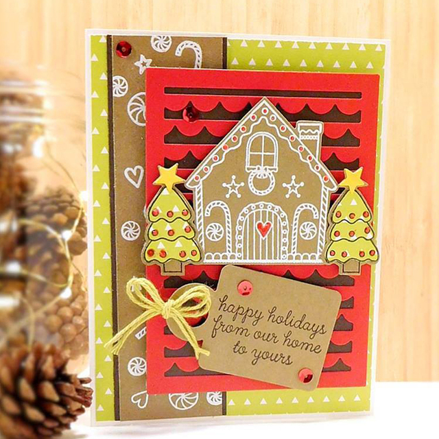 Sweet Christmas House Clear Stamps Seal For Scrapbooking Decorative