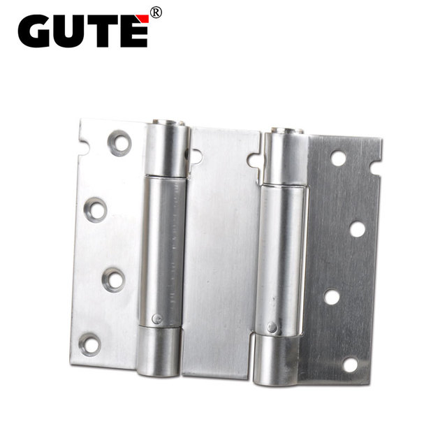 GUTE 4 Inch Double Action Spring Door Hinge Stainless Steel Close  Automatically Door Rebound Hinges For