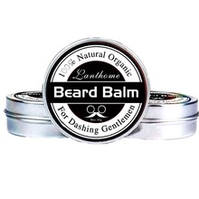 Natural Men Beard Oil Balm Moustache Wax for Styling Beeswax Moisturizing Smooth