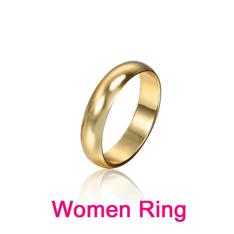 Par Ringe Guld Engagement Ring for Mænd Kvinder Alliance Casamento - Mode smykker - Foto 4
