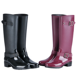 2018 New Fashion Women Shoes Punk Style Heel Riding Boots Zipper Shoes Knight Tall Boots Women Rain Boots Large Size 40