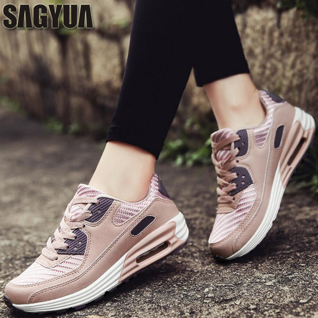 912061f3fd SAGYUA Students Lady Women Fashion Casual Girlish Feminino Mujer Mesh Air  Cloth Shoes Zapatos Chaussures Sapatos Flat Shoes T165