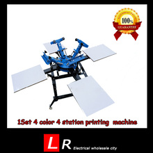 1 Set 4 Color 4 Station Screen Printing Machine Comeswith Base Good Quality T-shirt Printing Machine