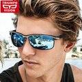 TRIUMPH VISION Polarized Driving Sun Glasses For Men Cool Black Oculos Shades Male 2017 Wrap Design Sport Driver Sunglasses Men