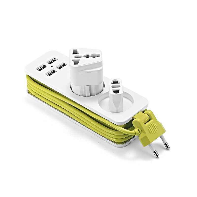 Ue wtyczka listwa zasilająca 220V 1.5m kabel ue gniazdo ścienne wiele Euro gniazdo USB dla smartfonów tabletki ładowarka ścienna pulpit Hub
