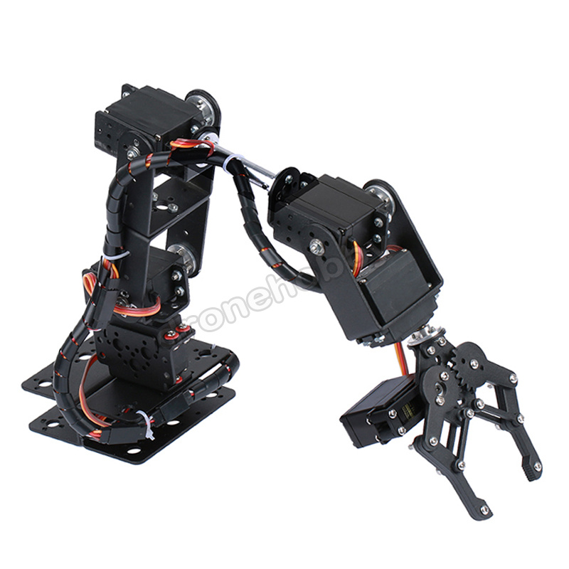 6DOF Aluminium Robot Arm Manipulator Mechanical Clamp Claw Basic Kit MG996R DS3115 Servo Bracket Arduino Robotic Education