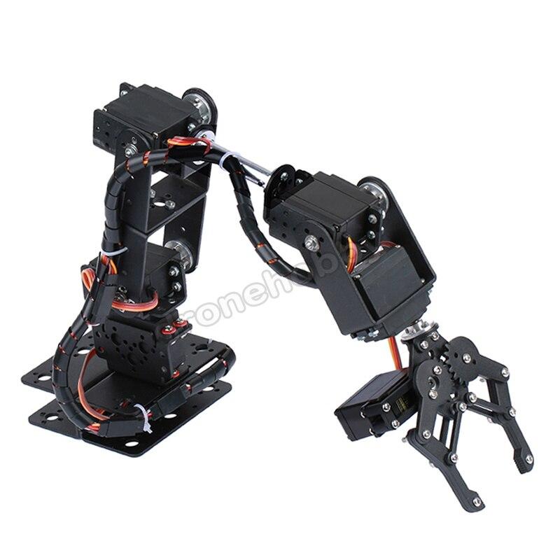 6DOF aluminio Robot manipulador de brazo mecánico garra kit Básico MG996R DS3115 soporte Servo Arduino robótica educación