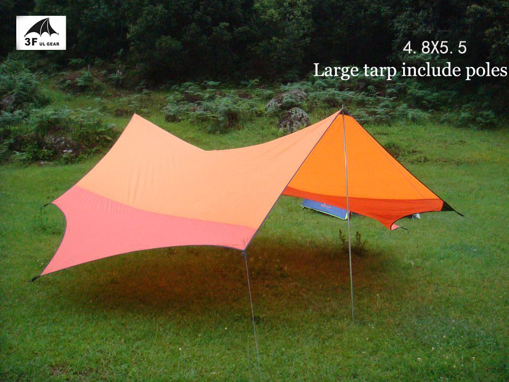 3F UL gear 5.5*4.8m UV sun shelter shade tarp awning canopy 7 Angle hiking party BBQ trekking fishing beach outdoor camping tent