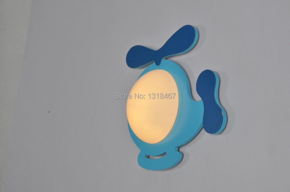 ФОТО Free Shipping kids lamps  blue helicopter wall lamp