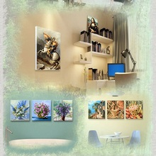 DIY hand-decorated digital painting beautiful hand-painted home decoration painting animal landscape painting