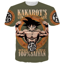 Camiseta manga corta diseño Goku Super Saiyan Gym