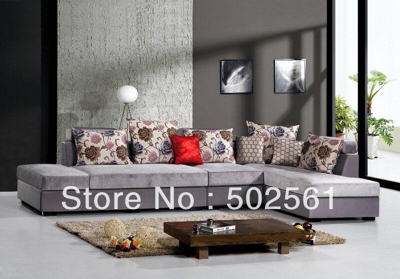 2014 nouvelle moderne fonctionnelle velours tissu coin canap meubles de salon l formejpg - Salons Moderne En Velours