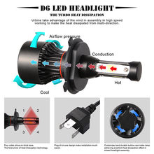 4 Sides Waterproof LED Headlight Auto Bulbs 100W LED Headlamp Conversion Kit H7, H8/9/11, 9005/HB3, 9006/HB4, H4/HB2(China)