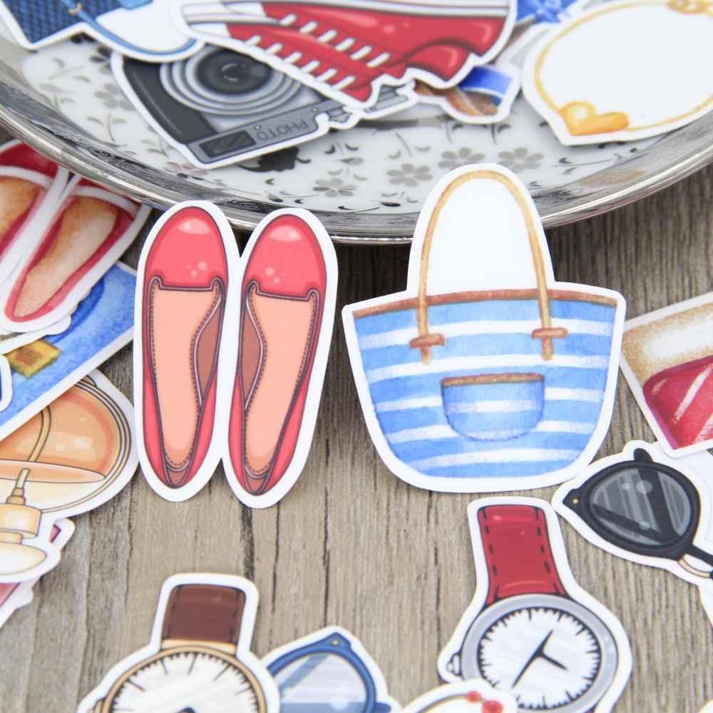 37 chiếc Tay thời trang bé gái giày túi vòng tay đồng hồ dây trang trí Thêu Sò tự chế Album Album Nhật Ký TỰ dán