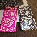 Encaje hollow out foral plástico de lujo damasco henna casos para apple iphone 6 6 s 6 plus 6 splus 5.5 pulgadas fundas envío libre