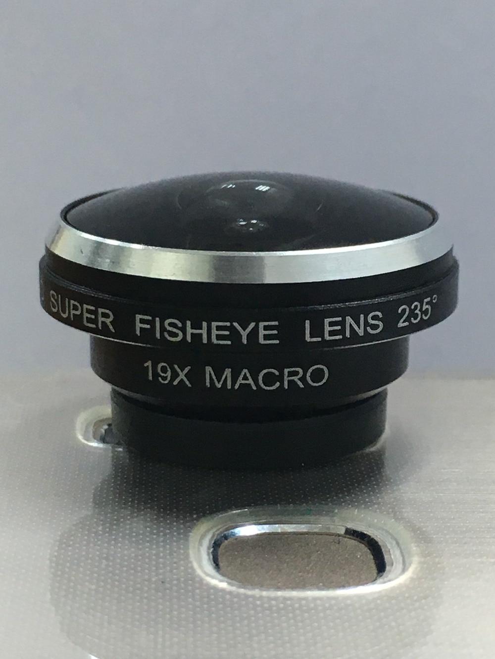Orbart 235 derajat supre fisheye 19x makro 2 in 1 lensa telepon untuk - Aksesori dan suku cadang ponsel - Foto 2