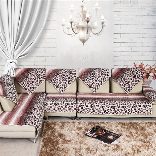 Luxury Cotton Sofa Cloth Fabric Velvet Sectional Towel Set Covers Leopard For Home Textile Corner Cover Slipcover In From