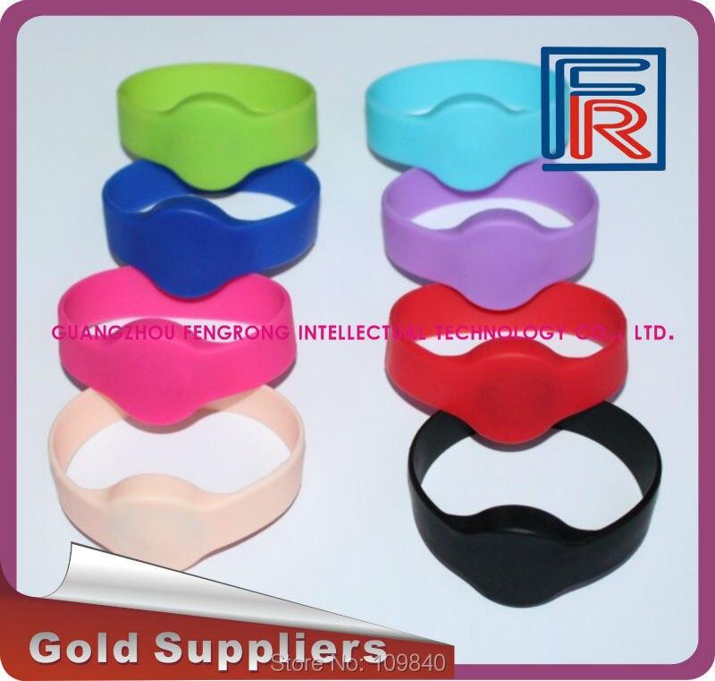 Swimming pool/Fitness proximity waterproof RFID 13.56MHz Wristband/Bracelet Silicone 100pcs/lot