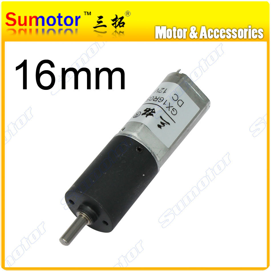 GX16 D=16mm 12V small Planetary gear motor robot motor High torque Low speed DC brushed tubular motor Milk maker valve motor 12v24v dc gear motor 60w miniature high torque motor slow speed small motor
