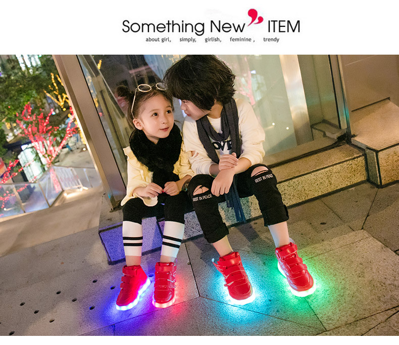 HTB1VQWLehGYBuNjy0Fnq6x5lpXaU - UncleJerry Kids Light up Shoes with wing Children Led Shoes Boys Girls Glowing Luminous Sneakers USB Charging Boy Fashion Shoes