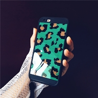 From Jenny Girls Boys Love It Leopard Green Acrylic Phone Cases For IPhone 6 7 6plus