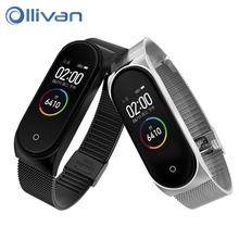 Miband 4 Metal Strap For Xiaomi Mi Band 4 Smart Stainless Steel Bracelet Replaceable Miband 3 Wristbands Watch Band With Buckle stainless steel wrist strap for xiaomi mi band 3 metal watch band smart bracelet miband 3 belt replaceable watch straps mi 3