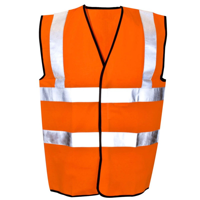 New Outdoor Running Clothing Running Green/Orange Safety Race Vest High Visibility Reflective Fluorescent Vest