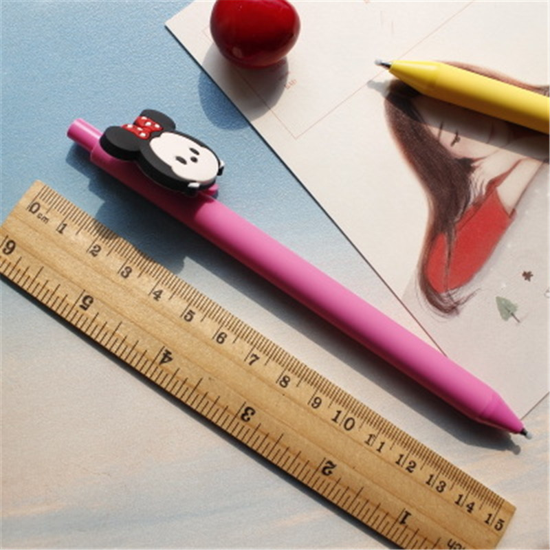 10 PCS/Set TSUM Cute Gel Pen Kawaii Gel Pen 0.5mm Black ink Candy color pens for Kid Gift escritorio Papelaria School Supplies 1set miyazaki hayao my neighbor anime totoro figure totoro mei fairy dust resin action figure toy gifts for garden home decor