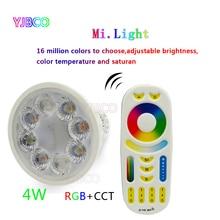 4W MiLight AC86-265V LED Bulb GU10 Dimmable LED Lamp Light RGB+Warm White+White (RGB+CCT) Spotlight Indoor Living Room