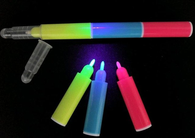 Hot sales! logo printing Invisible UV Marker CH-6009 --3 color in 1 pen FREE SHIPPING!