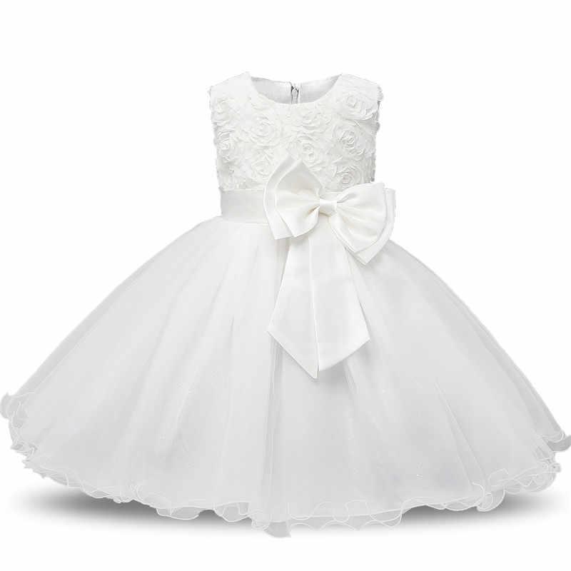 Bata De Bautizo Para Bebé Blanco Niño Niña Vestido Para