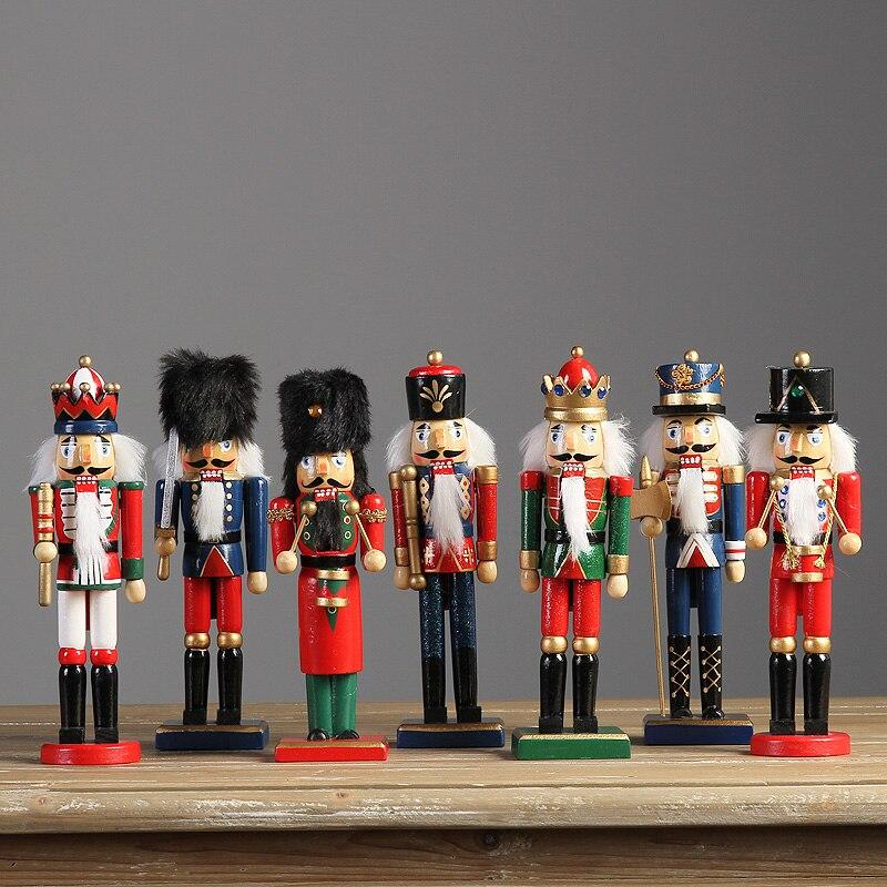 Décor à la maison ameublement ornements ornements casse-noisette soldats marionnette joint créatif dessin animé classique décoration de mariage