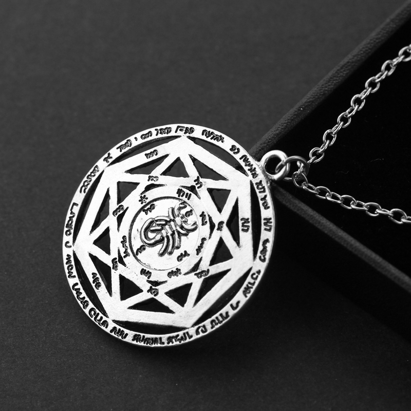 Supernatural necklace heptagram scorpion key of solomon pentacle supernatural necklace heptagram scorpion key of solomon pentacle seal pagan wiccan jewelry supernatural amulet pendant necklace in pendant necklaces from aloadofball Choice Image