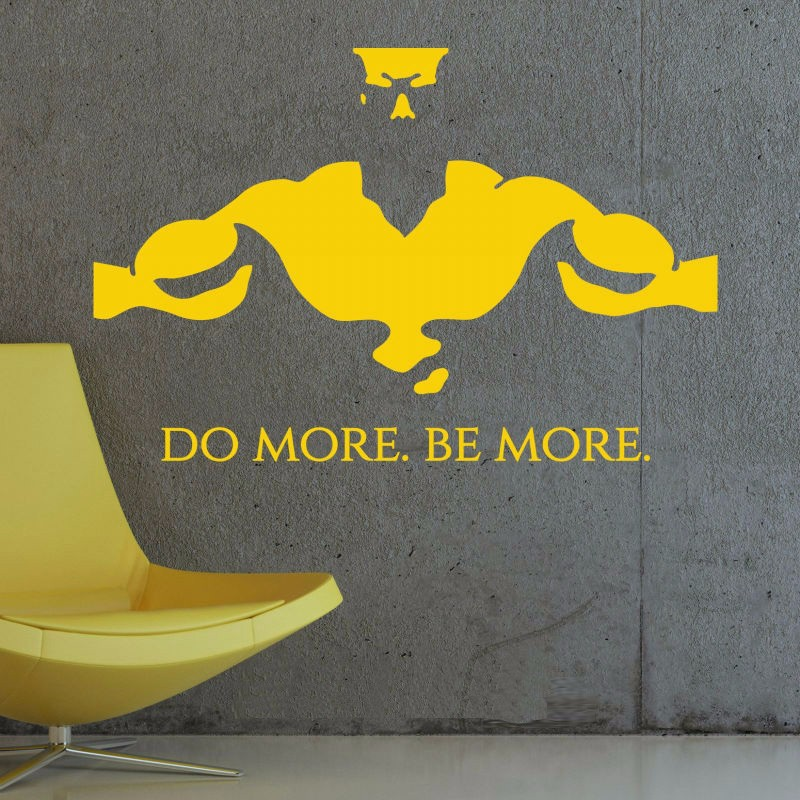c2835ce0256 Size 57X86cm GYM Do More Be More Fitness Wall Art Sticker Decal DIY ...