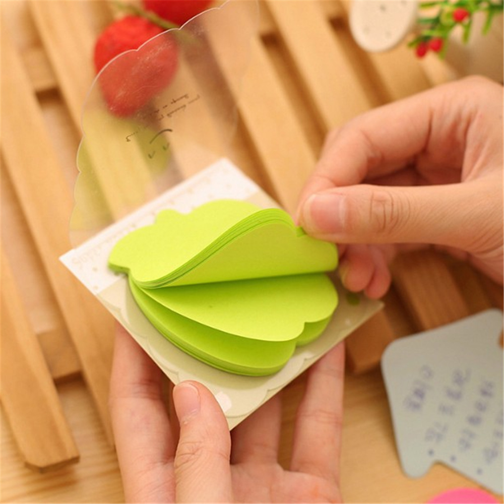 8 pcs/Lot heart Four Leaf Clover Sticky Notes Cartoon Memo Pad Post it Paper Sticker Bookmark Stationery Office Accessories