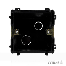 Free Shiping Black  Plastic Materials, 83mm*83mm UK Standard Internal Mount Box for 86mm*86mm Wall Light Switch