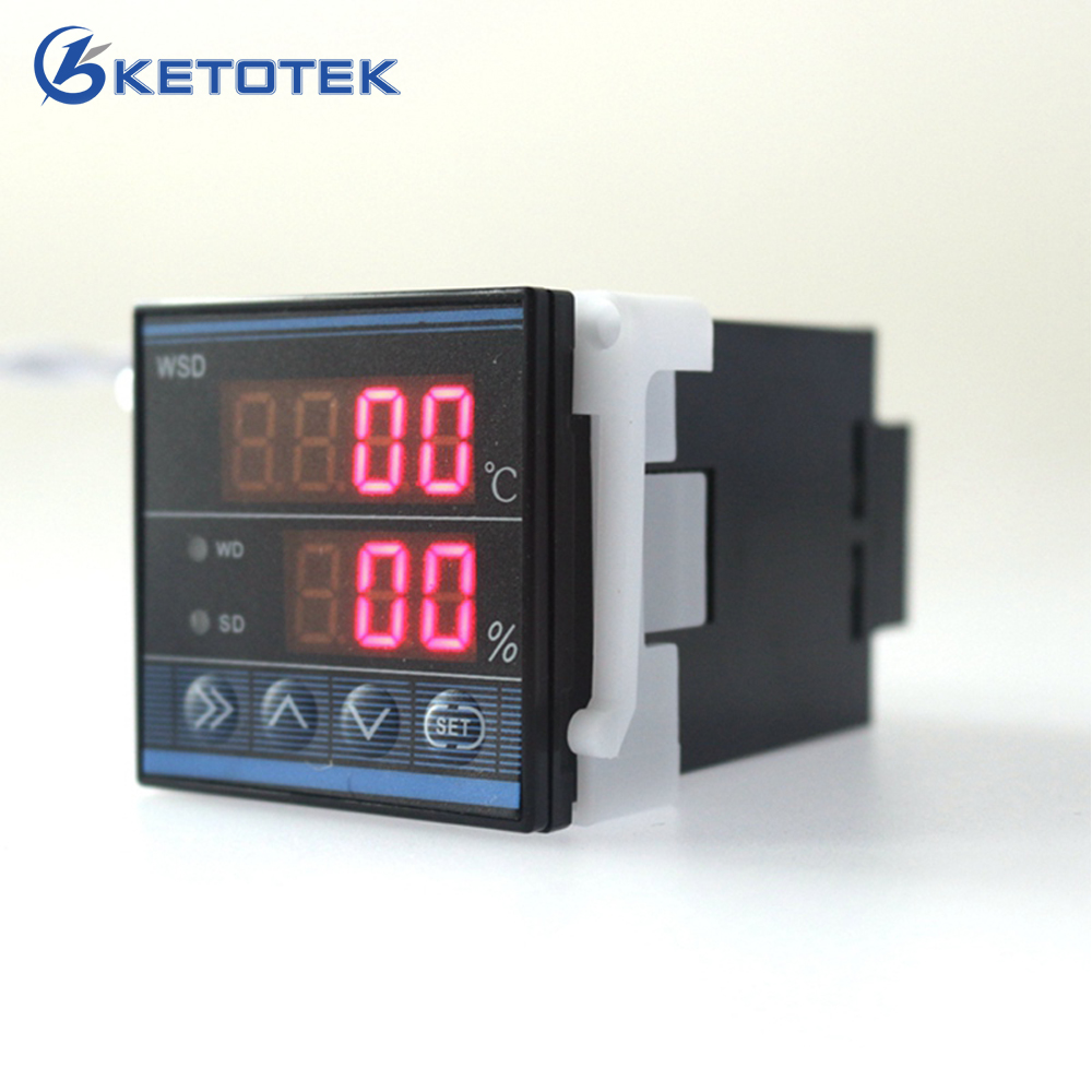 New Digital Temperature and Humidity Controller Two Ways Output Thermostat Humidifier TDK0348LA 48 x 48mm Free Shipping wsk301 48 48mm ac dc85 265v led digital display temperature and humidity controller with sensor