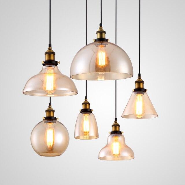 Exceptionnel Hanglamp pendentif lampe de cuivre en verre restaurant lampes  ZC16