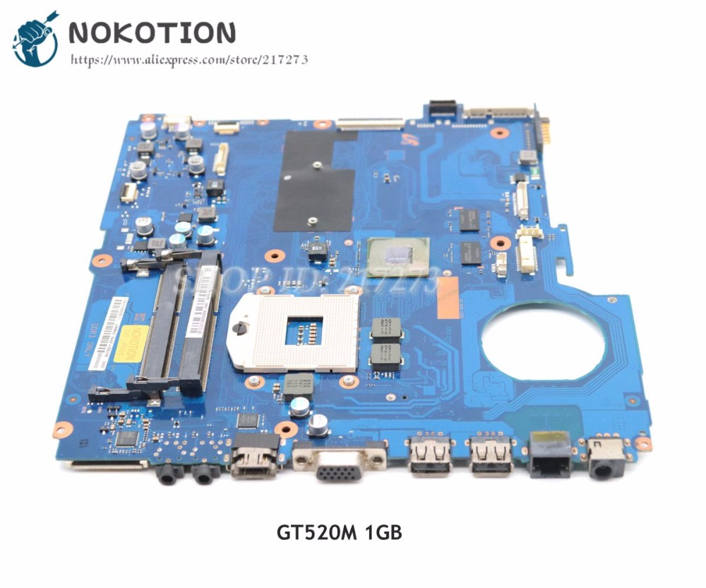 NOKOTION For Samsung NP-RC520 RC520 Laptop Motherboard 15 inch HM65 DDR3 GT520M 1GB BA92-08079A BA92-08079BNOKOTION For Samsung NP-RC520 RC520 Laptop Motherboard 15 inch HM65 DDR3 GT520M 1GB BA92-08079A BA92-08079B