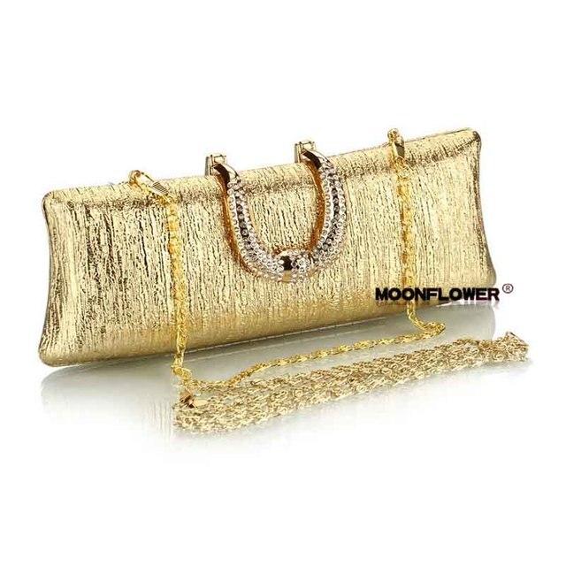 Gold Handle Clutch Women Bag Luxury High Class Evening Bags Crystal Diamond Bag High Quality Shoulder Bag Bolsas Mujer XA269B
