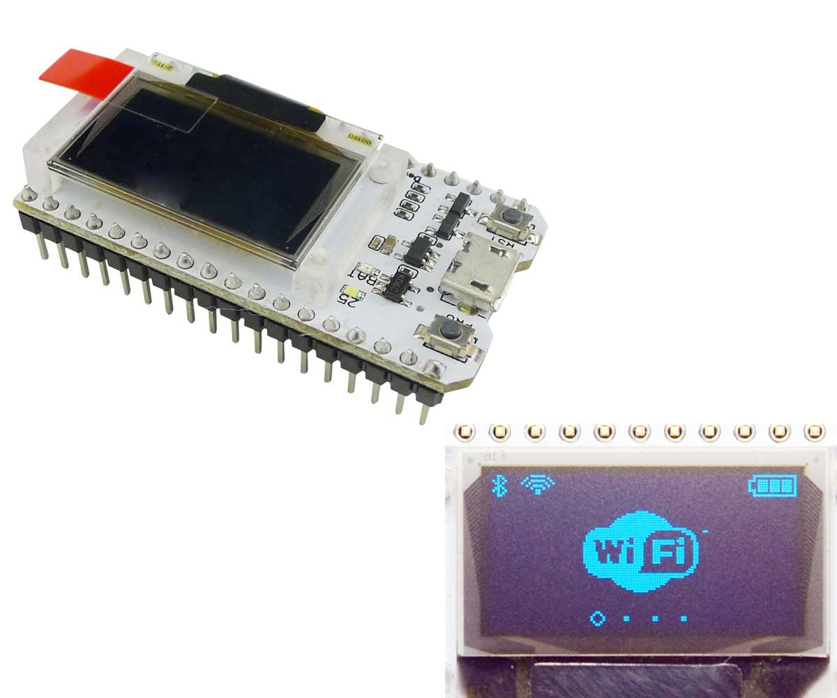 Aihasd 0.96 inch OLED Display ESP32 WIFI Bluetooth Development Board IOT for Arduino For Smart Home
