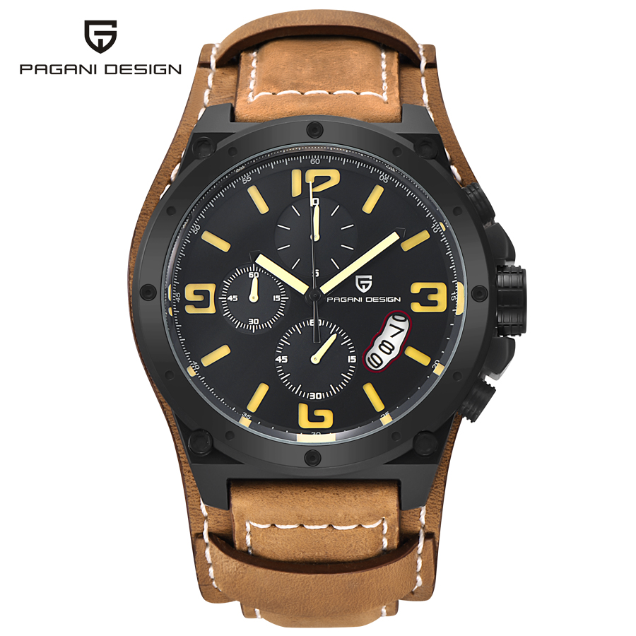 2016 New Luxury Brand fashion Business Quartz watch Men sport Watches Military Watches Men Corium Leather Strap army wristwatch