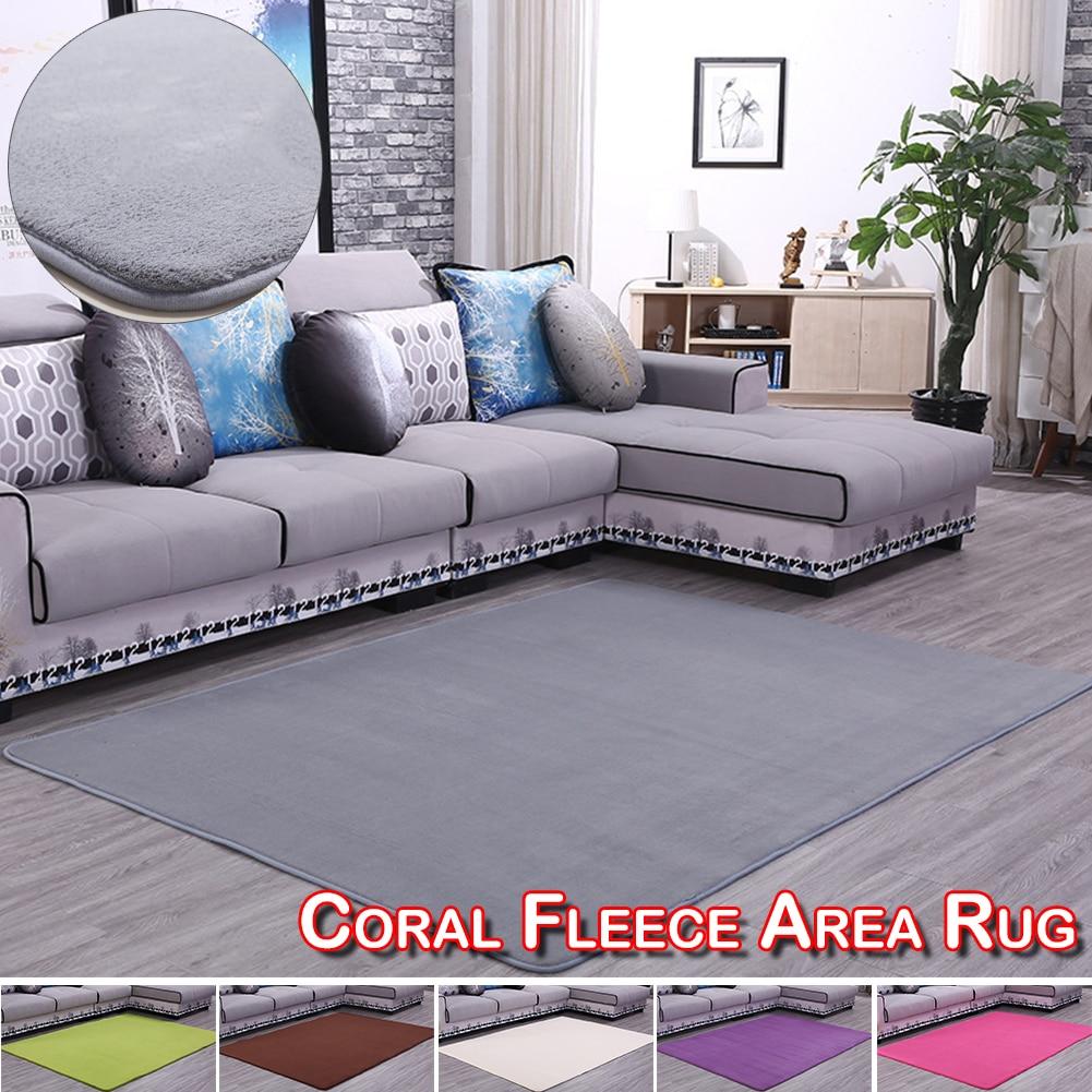 Home Bedroom Large Rug Living Room Carol Kids Floor Fleece Bedroom Area Dining Room Huge Rectangle Solid Color Mat Carpet D30 in Carpet from Home Garden