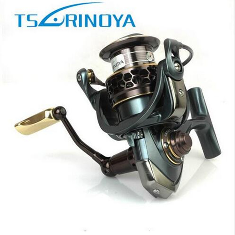 Cheap!!TSURINOYA Jaguar 3000 Spinning Fishing Reel 9+1BB Gear Ratio 5.2:1 Double Metal Spool Lure Reel Carretes De Pescar Reels coonor j12 9 1bb metal spool fishing reel 5 1 1 gear ratio spinning reel full metal spool with double t shape handles
