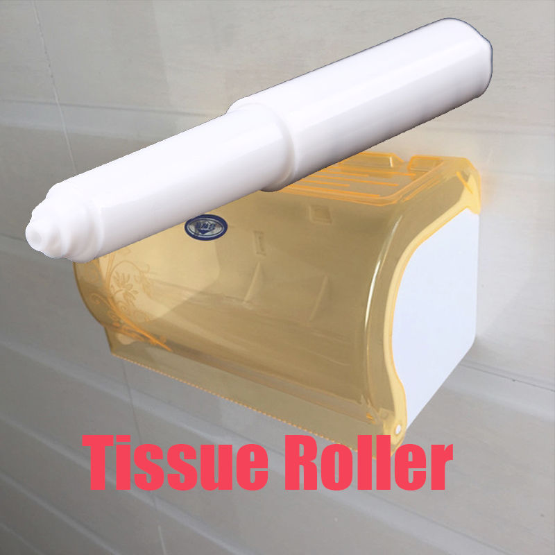 2pcs Practical Plastic Toilet Paper Rollers Insert 11 16cm White Tissue Roll Holder Replacement Spindle Bathroom Accessories In Portable