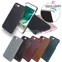 Pierre Cardin Genuine Leather Protective Hard Case Back Cover for Apple iPhone 7 7 Plus