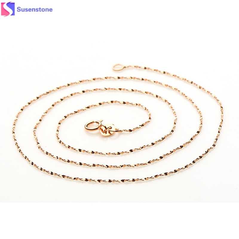 Kobiety Lady jest dość 1 pc włochy Sexy gwiaździste naszyjnik z łańcuszkiem z różowego złota z republiki korei płyta Jadoku łańcuch gwiaździste łańcuch #1011
