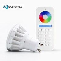Waseda GU10 spot light DC12V 2.4G Wireless Dimmable Led Bulb RGB+CCT Led Spotlight Smart Led Lamp DC12V 5W GU10 led lightbulb