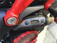 Coletor de escape Capa Para Ducati Monster 696 795 796 1100 Completa De Fibra De Carbono Sarja 100%