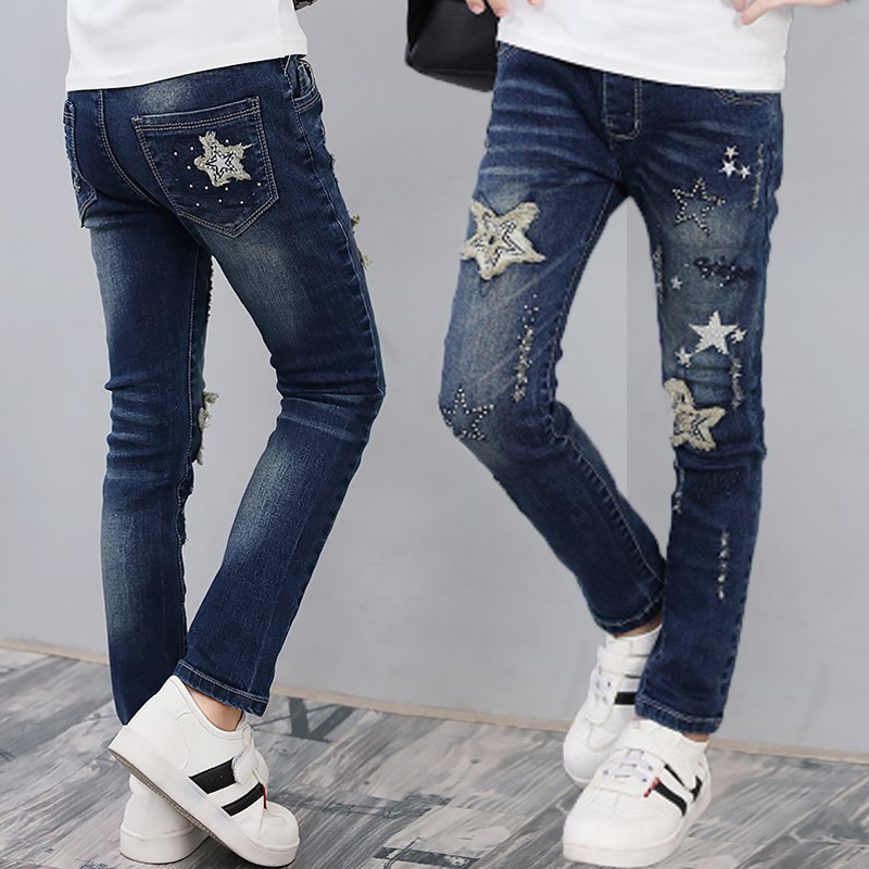 Girls brand jeans 2019 new patchwork girls pants toddler classic trousers for 3 to 13years children clothes kids pencil leggingsGirls brand jeans 2019 new patchwork girls pants toddler classic trousers for 3 to 13years children clothes kids pencil leggings